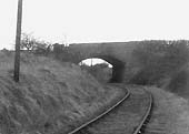 View of the red brick built bridge carrying Icknield Street over railway after having crossed the River Arrow