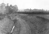 Post World War One view of the junction with the Midland Railway's Evesham to Birmingham line showing the lifted track