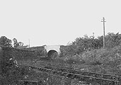 View taken during the closure period showing the branch track bed and Alcester Road bridge