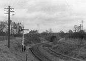 Looking towards the Alcester Rd from the engine shed with the line secured from being used