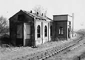 The derelict GW Branch Engine Shed adjacent to Alcester Junction