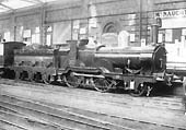 Great Western Railway 2-4-0 196 class No 211 at what is believed to be Worcester Shrub Hill Station in 1895