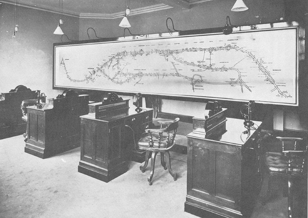 View Of The Great Western Railways Birmingham Central Control Office And Diagram Showing Area
