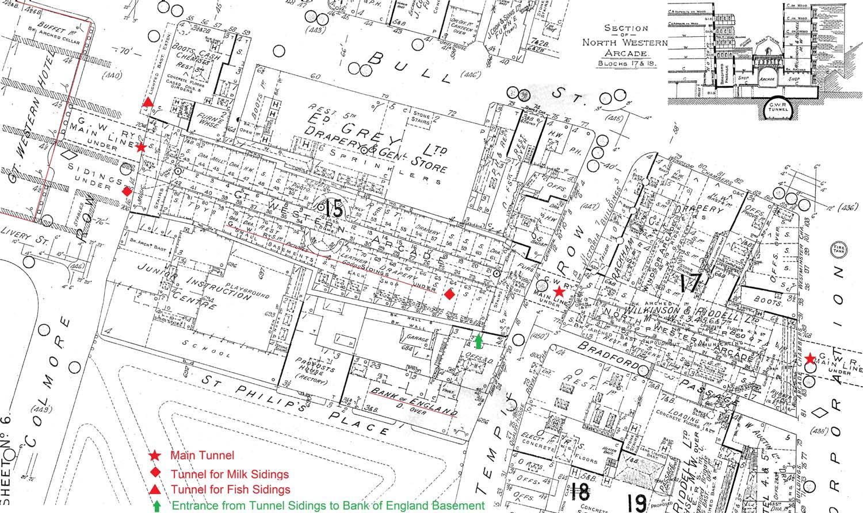 Birmingham Snow Hill Structure An annotated Fire Insurance map
