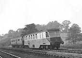 GWR Diesel Railcar No 26 with auto trailer No 62 on a Stratford-upon-Avon local train
