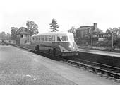 An unidentified GWR Railcar is seen passing through Henley-in-Arden on a down Moor Street to Stratford on Avon local passenger service