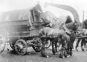 A Great Western Railway two horse tilt van in Hockley Goods Station driven by Mr Jack Jackson