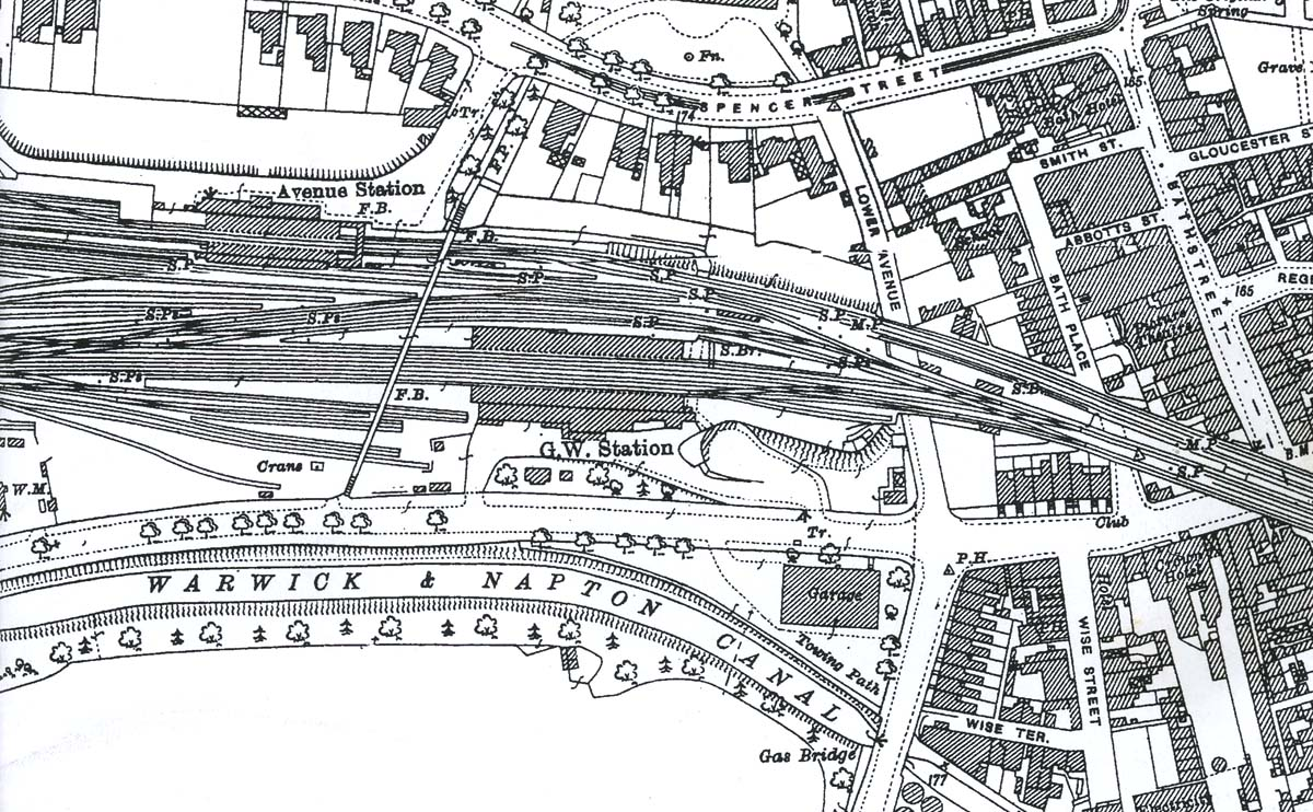 Leamington Spa A 1925 Map Showing The Proximity Of The