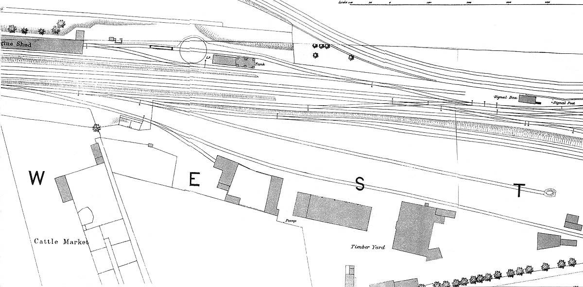 Leamington Spa Station Part Of The 1886 Os Map Showing
