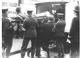 The first wounded soldiers arrive in Birmingham on 1st September 1914 for treatment and convalescence