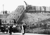 Second of ten photos showing the recovery of the derailed LNWR coaches in Bloomfield Road, Coventry