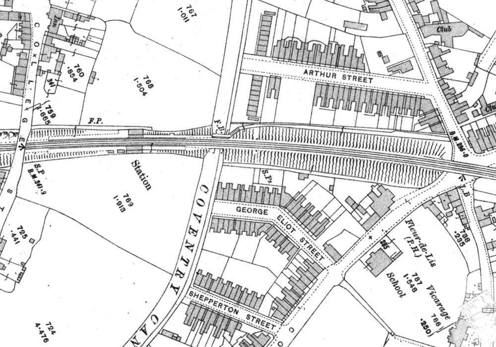 Chilvers Coton Station A 1913 Ordnance Survey map of Chilvers Coton