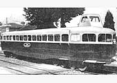 An exterior view of a Michelin 56-seater Rail-car passing itself off as a Coventry Rail Car