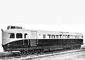 A right hand three-quarters view of No 1 Rail Car before the transfer 'Coventry Railcar' has been applied
