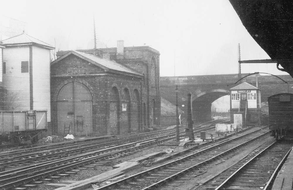 Coventry Station View Showing The L Amp B Locomotive Shed On