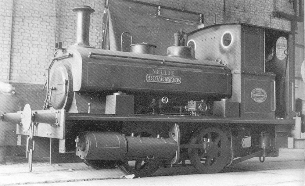 Andrew Barclay 0-4-0ST 'Nellie' (Works No 2053 built in 1938) is seen standing within the confines of Courtaulds factory on 6th March 1955
