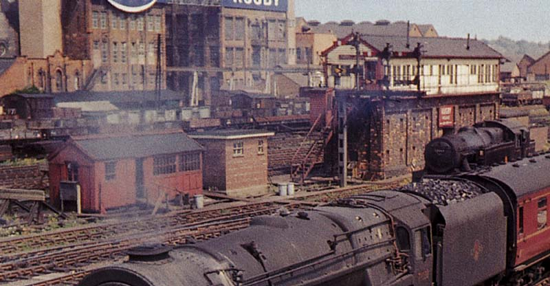 Rugby Station Close Up In Colour Showing The Sidings