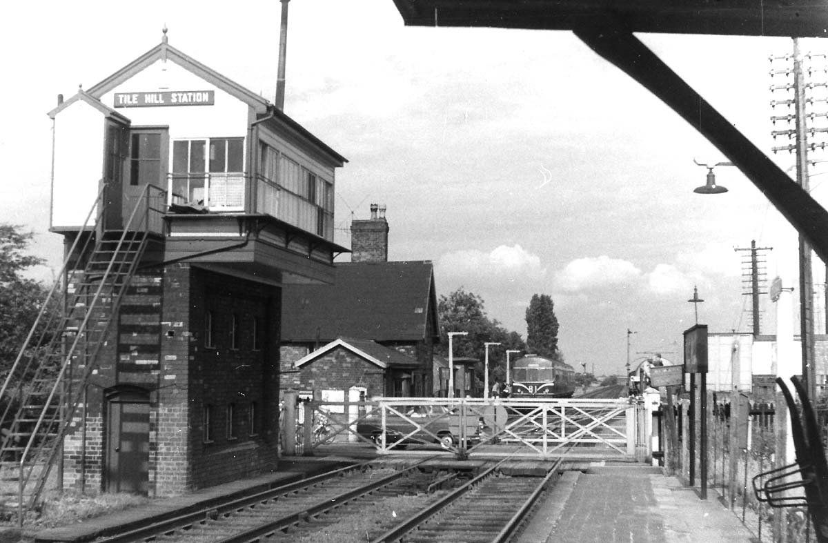 Tile Hill Station Looking Towards Coventry From The