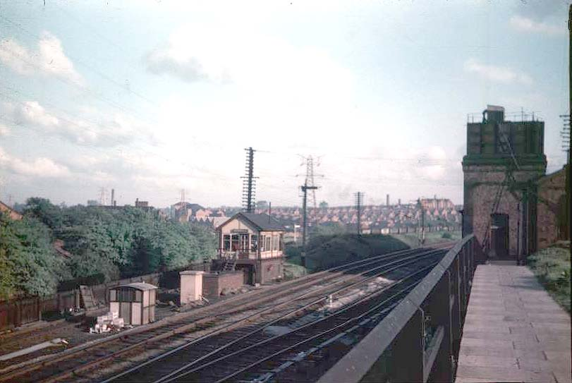 Another view looking towards Aston with the head shunt immediately in ...