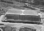 First of five aerial photographs showing the Fort Dunlop factory and sidings together with the adjacent railway