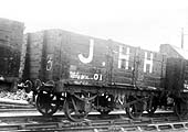 A Private Owner Wagon marked J.H.H, the initials of James Henry Harper, one time colliery clerk who became Secretary of the Kingsbury Colliery