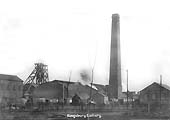 A general view of Kingsbury Colliery's two shafts and buildings with mainly Midland Railway wagons in evidence