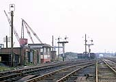 Looking to Birmingham with the yet to be commissioned Shunting Frame seen on the right on 9th August 1969