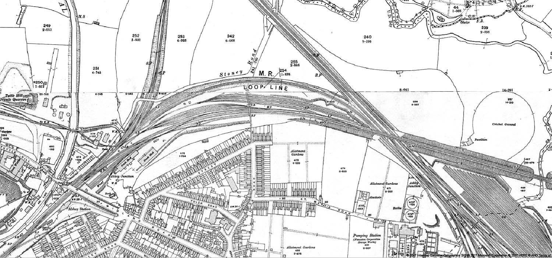 Nuneaton Abbey Street Station A 1914 Ordnance Survey map showing