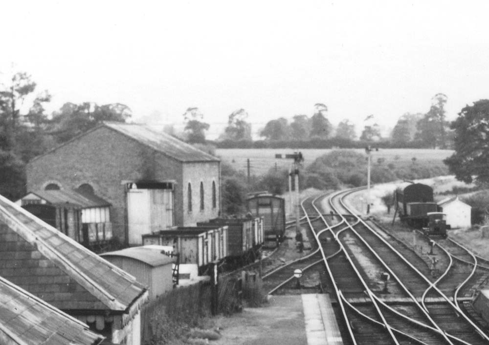 Kineton Station Close Up Showing The Goods Shed And Coal