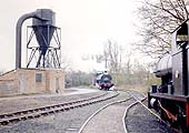 Peckett 0-4-0ST No 1722 'Rocket' approaches Foleshill shed and the photographer on 8th April 1972