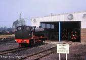 92 Hunslet 3792/53 WAGGONER outside the loco shed