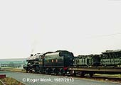 LMS 2-8-0 8F No 8233 on demonstration freight duty