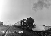 Army 98 ROYAL ENGINEER (Hunslet 3798 of 1953) heads a railtour train