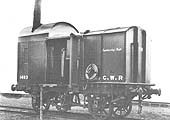An official Great Western Railway photograph taken in December 1903 of the Engineering Department Van No 14938