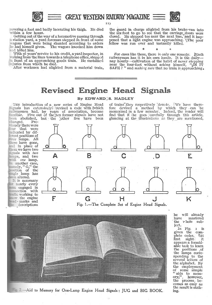 Miscellaneous Great Western Railway Lamp Headcodes, Tail -3480