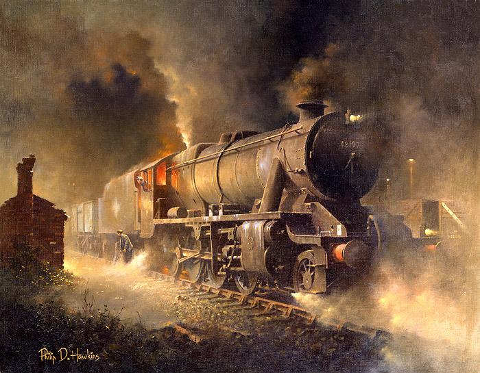Warwickshire Railways Art Philip Hawkins Fgra Waiting